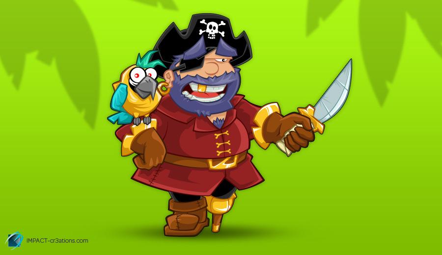 Mascotte «Pirate délire»