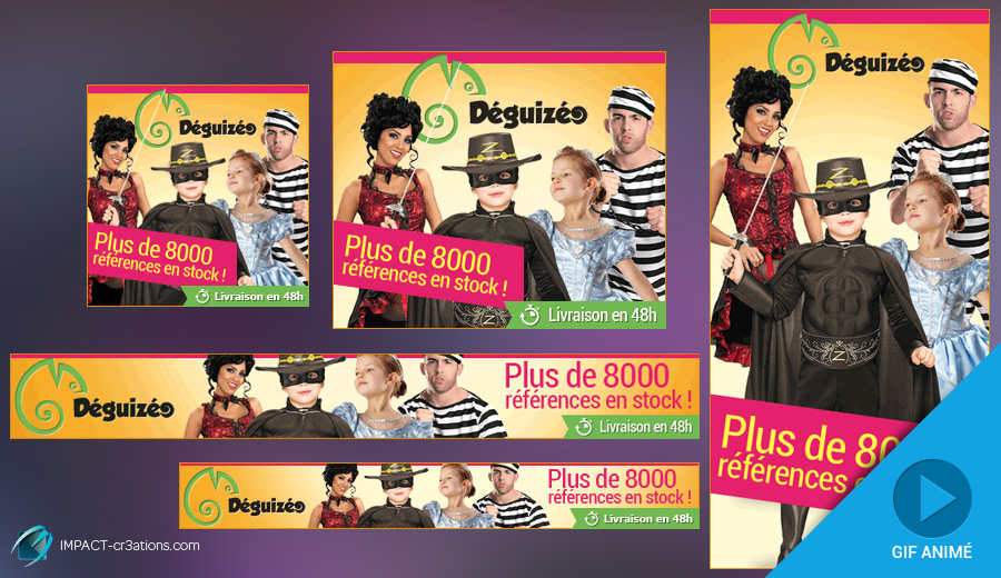 Kit de bannières animées GIF Deguizeo
