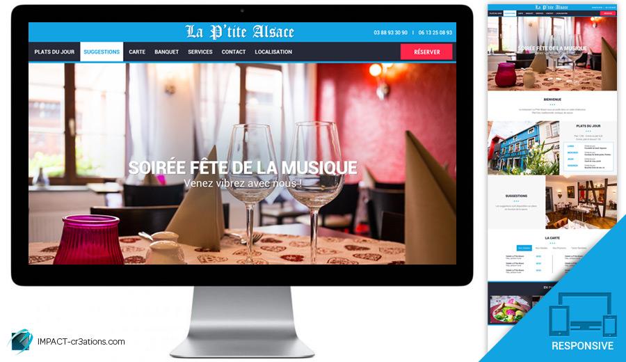 Webdesign «La P'tite Alsace»