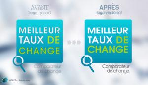 Vectorisation de logos «Taux de change»