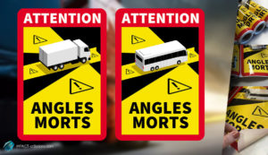 Angles-morts : dispositif stickers + 3,5 tonnes